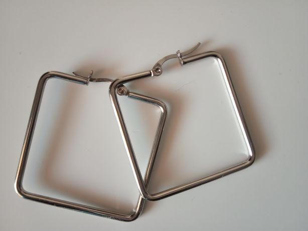 Kolczyki kwadraty średnie
