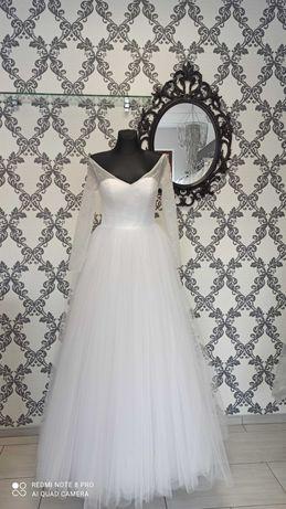 Suknia ślubna princessa z perełkami
