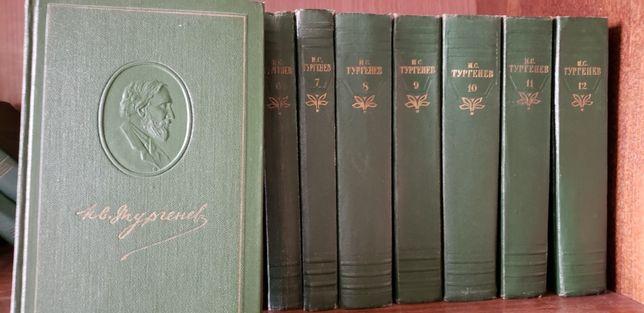 Тургенев, полное собрание 12 томов.