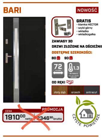 drzwi zewnętrzne 72mm bari czyste powietrze