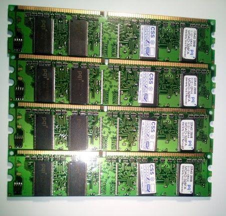 Оперативная память DDR 400, 256Мб - 4 шт.