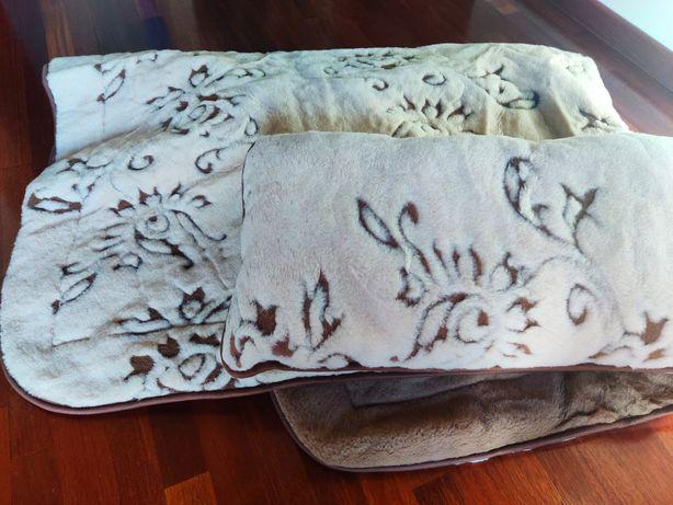 Nowa kołdra z wełny wielbłąda plus poduszka