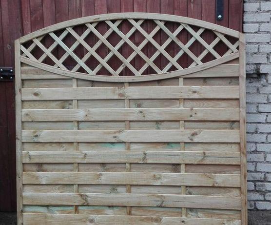 płot ogrodowy lamelowy panele drewniany GRUBY nie markietowy producent