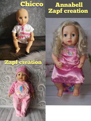Baby born,кукла baby Annabell, zapf creation,chicco,куколка анабель