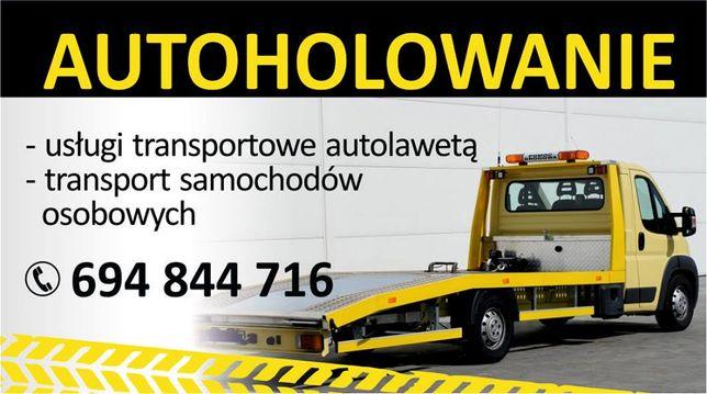 LAWETA Transport maszyn budowlanych, samochodów