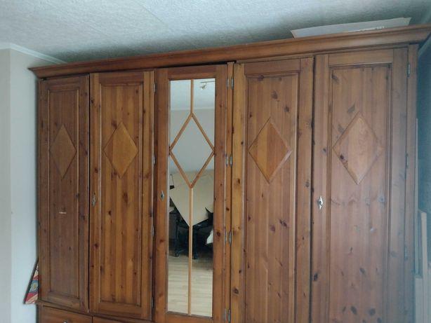 Szafa dębowa 5-drzwiowa