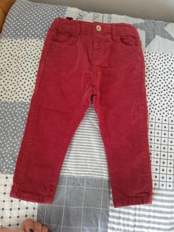 Spodnie sztruksowe ZARA rozm. 86