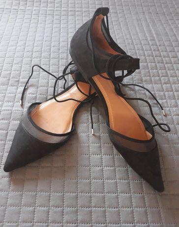 Zara baleriny wiązane r 40