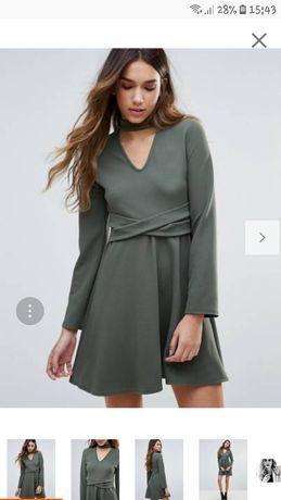 Sukienka khaki mini r. L Nowa