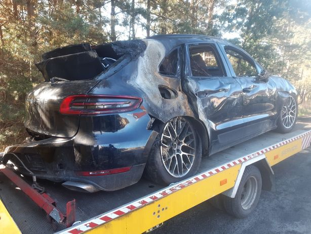 Porsche macan 2.0 benzyna 2018rok po pożarze