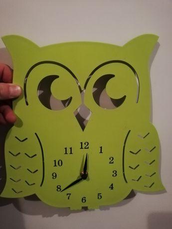 Zegar ścienny sowa