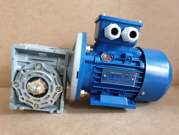 Мотор - редуктор червячный НМРВ частотник электромотор АИР двигун 220В