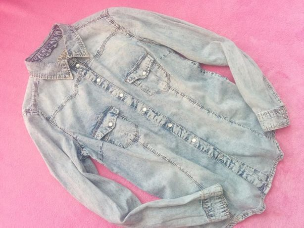 DENIM jeansowa koszula S/M