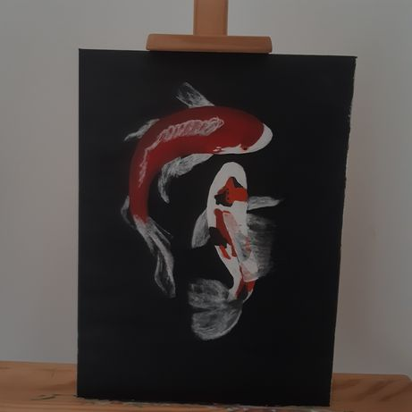 Obraz akryl karpie koi