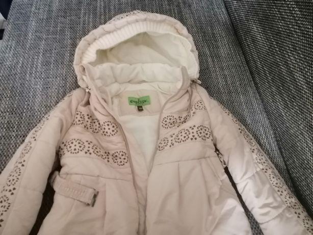 Новая зимняя куртка на девочку, рост 98см.