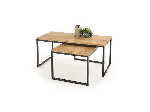 Zestaw dwóch ław w stylu loft- stół/ stolik