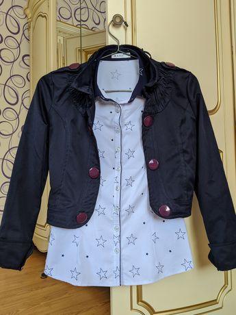 Женская рубашка с пиджаком
