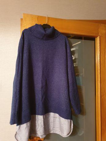 Granatowy sweterek