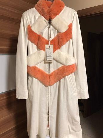 Пальто нове,біла шкіра