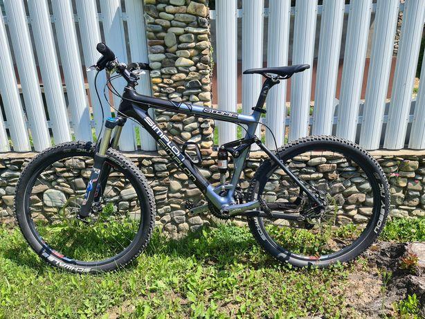 Велосипед горный двухподвес carbon Simplon Stomp 26 колеса fox, saam