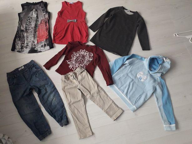 Zestaw ubrań dla dziewczynki tunika bluza NIKE i inne r.122