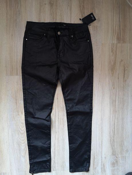 Spodnie skórzane woskowane rozmiar 40 L