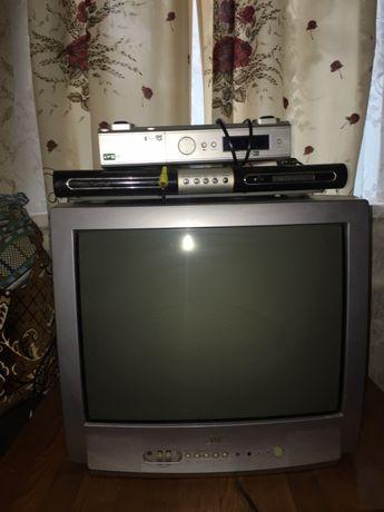 Продам клёвый телик JVC,и DVD проигрыватель