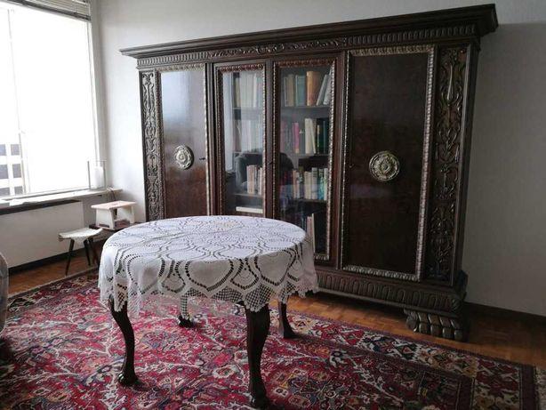 Biurko, szafa, krzesło, gabinet, biblioteka, antyk, meble