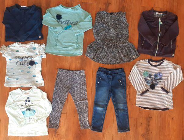 Duzy zestaw komplet coccodrillo 92 i 98 sukienka bluzka bluza spodnie