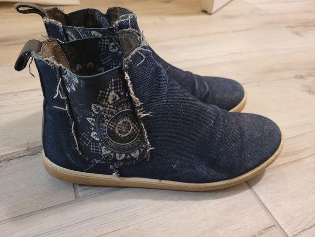 Desigual jeansowe jesienne botki 38