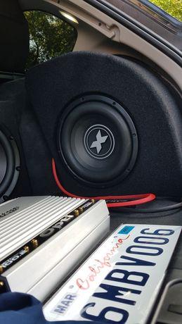 BMW Boczek e91 zabudowa glosnika e91 subwoofer e91 Mega Bass