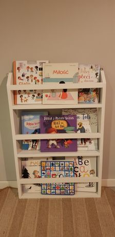 Półka na książki regał dziecięcy biały