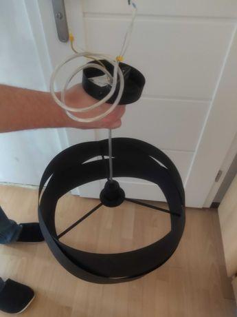 Żyrandol metalowy czarny średnica ok 40 cm