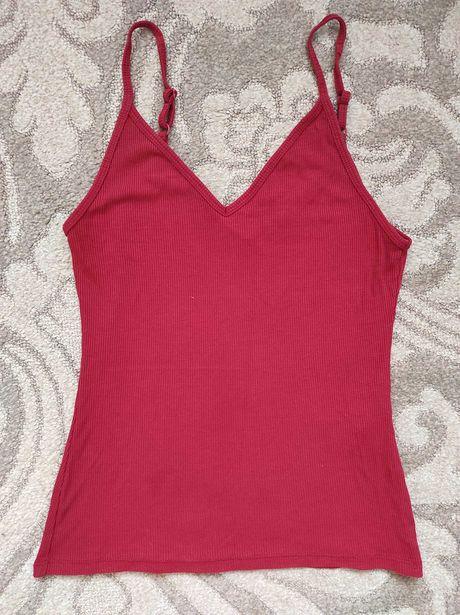 Czerwona bluzka ASOS na ramiączkach
