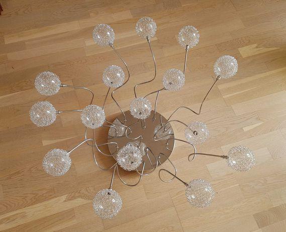 Lampa żyrandol 16 punktów szkło