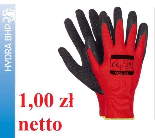Rękawice robocze budowlane Red Latex rozmiar 10 faktura vat rękawiczki