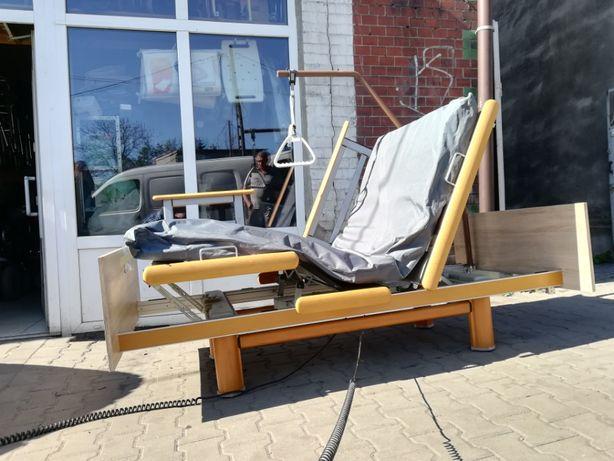 Łóżko rehabilitacyjne sterowane elektrycznie pilotem 3-4funkcje