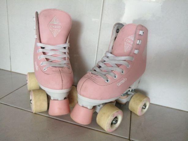 Patins de patinagem, 4 rodas - rosa