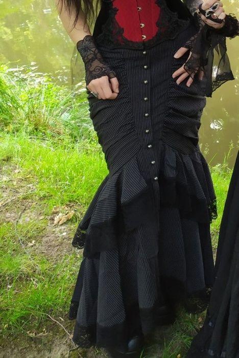 Spódnica goth gothic gotycka syrena punk rave victorian Wrocław - image 1