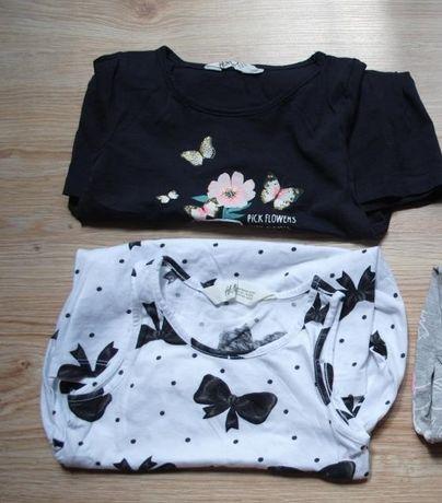 L81-> sukienka bawełniana H&M r98/104 2-4Y granat kwiatek