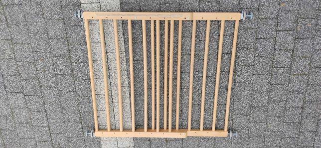 Bramka zabezpieczająca schody, drzwi drewniana 60-101cm