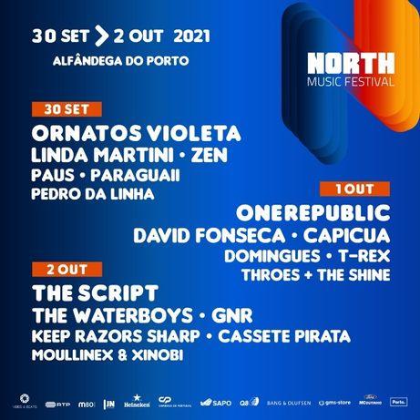 2 Bilhetes para North Music Festival - 2 Outubro