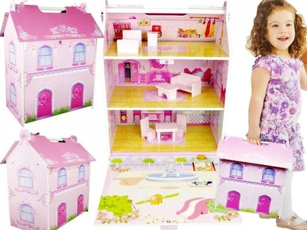 Деревянный Домик для Кукол, портативный (3 этажа), НАЛИЧИЕ, Наложка