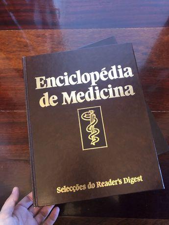 Duas enciclopédias de medicina com capa dura Da Selecçoes do Readers D