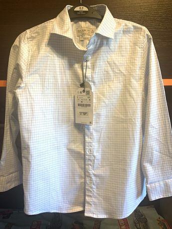 Рубашка белая в школу zara