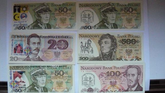 Zestaw banknotów z nadrukiem Jan Paweł II