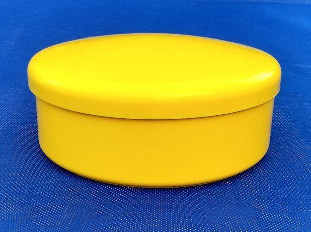 Коробку с крышкой круглую пластмассовую 18 сантиметров диаметр
