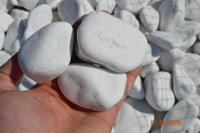 Kamień otoczak grecki biały