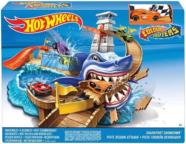 Трек Hot Wheels Color Shifters Sharkport Showdown машинка міняє колір