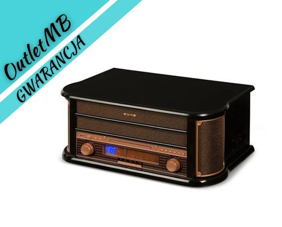 Mini wieża stereo retro gramofon adapter retro USB CD MP3 radio 190145